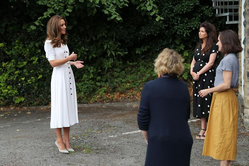 Kate Middleton wears face mask during visit to Sheffield baby bank