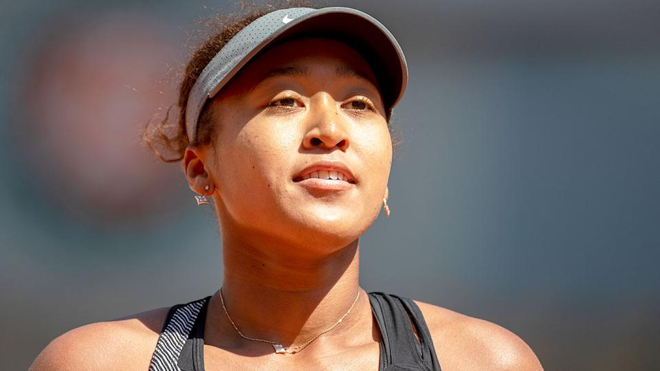 Seen here, Naomi Osaka at the 2021 French Open.