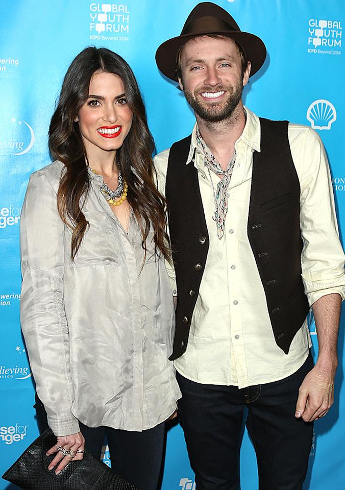 "LOS ANGELES, CA - FEBRUARY 08:  Actress Nikki Reed (L) and Recording Artist Paul McDonald (R) attend the ""mPowering Action"" platform launch at The Conga Room at L.A. Live on February 8, 2013 in Los Angeles, California.  (Photo by Paul Archuleta/FilmMagic)"