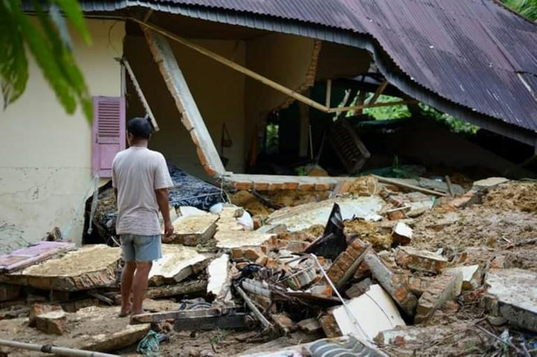 Fatal landslides and flash floods are common across Indonesia during the rainy season (AFP/Handout)