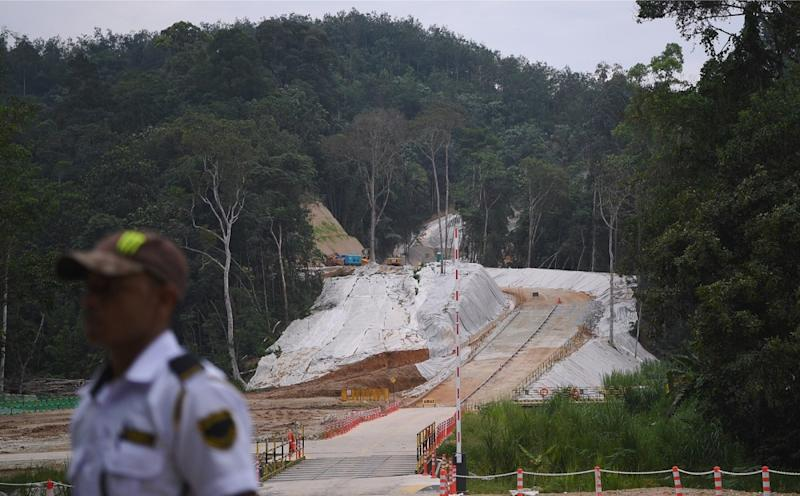 A general view of the construction site of the East Coast Rail Link project in Bentong July 10, 2018. — Bernama pic