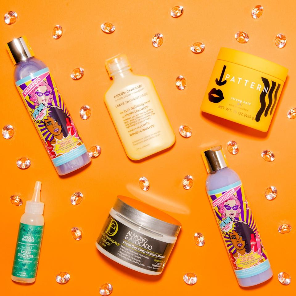 """<p><strong>CURLBOX</strong></p><p>curlbox.com</p><p><strong>$25.00</strong></p><p><a href=""""https://curlbox.com/"""" rel=""""nofollow noopener"""" target=""""_blank"""" data-ylk=""""slk:Shop Now"""" class=""""link rapid-noclick-resp"""">Shop Now</a></p><p>I know that a lot of natural-haired ladies are ride-or-die for certain products. But, if you're down to explore some new brands monthly, this (very in-demand) box might make your wash-day routine that much more <del>bearable</del> fun.</p>"""