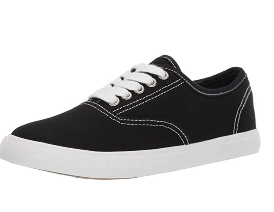 <p>For a comfortable pair that's easy to style, these <span>Amazon Essentials Shelly Sneakers</span> ($18) will not let you down.</p>