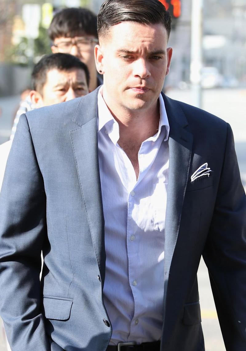 Mark Salling passed away on Tuesday after taking his own life. He is pictured here at court appearance in Los Angeles in 2016. Source: Getty