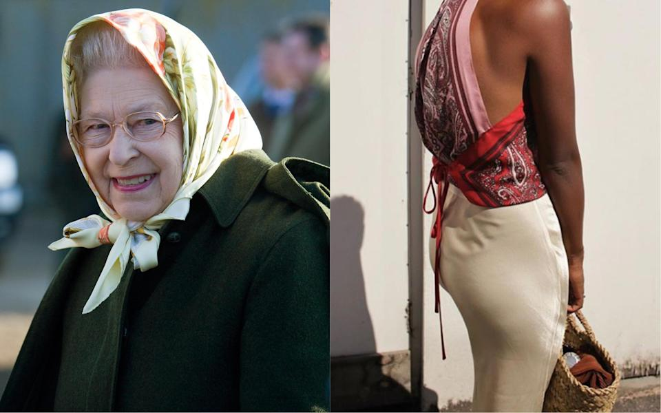 We could totally see Her Majesty in this season's most talked about trend [Photo: Getty/@monikh]