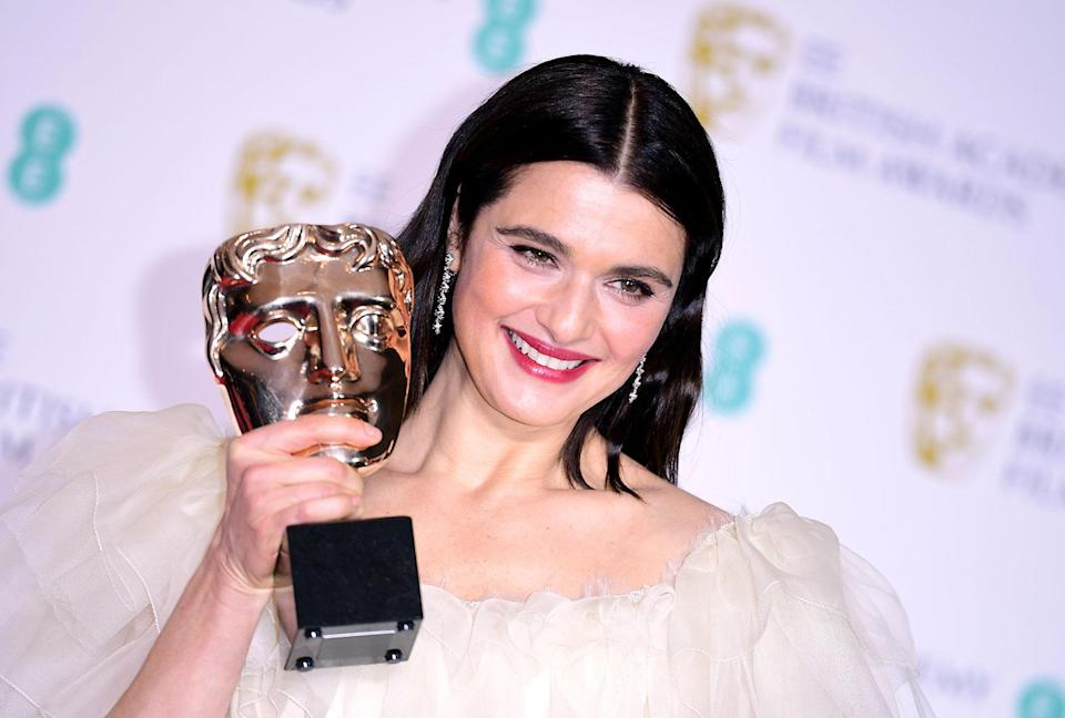 Rachel Weisz with her Best Actress in a Supporting Role Bafta for <i>The Favourite</i> in the press room at the 72nd British Academy Film Awards. (Ian West/PA)