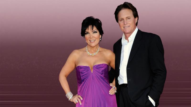 Kris and Bruce Jenner (l-r), on texture, partial graphic