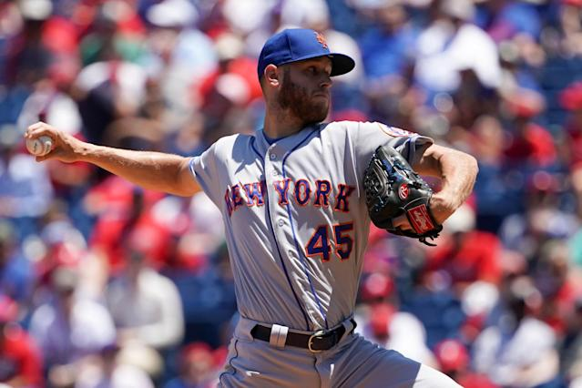 "<a class=""link rapid-noclick-resp"" href=""/mlb/players/9124/"" data-ylk=""slk:Zack Wheeler"">Zack Wheeler</a> could find himself in a new home in the coming weeks. Mandatory Credit: Bill Streicher-USA TODAY Sports"