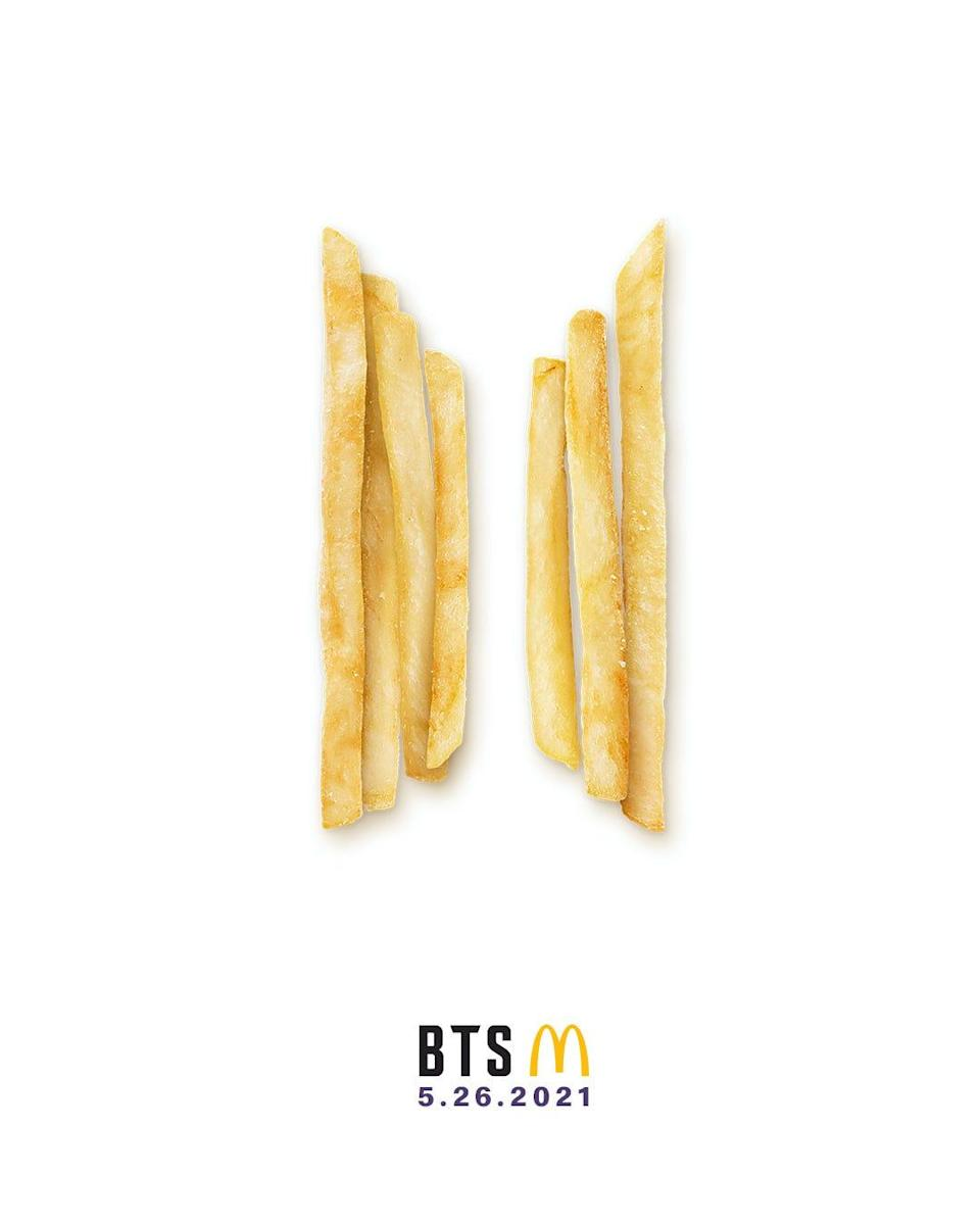A logo commemorating The BTS Meal, available at McDonald's starting May 26.