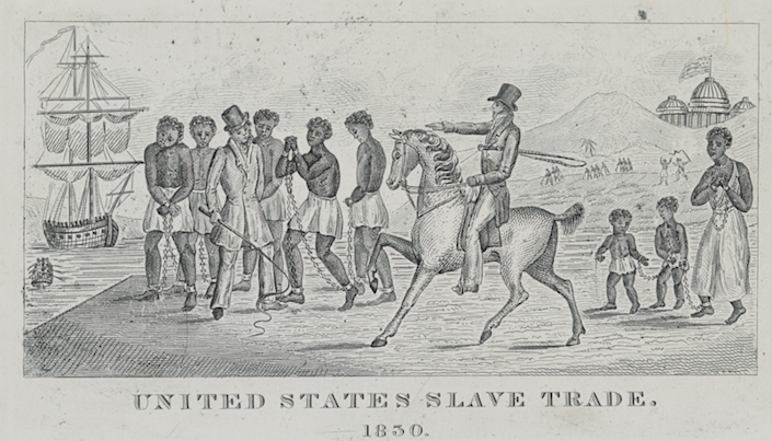 """<span class=""""caption"""">An abolitionist lithograph of the slave trade in Washington, D.C., with the U.S. Capitol in the background.</span> <span class=""""attribution""""><a class=""""link rapid-noclick-resp"""" href=""""https://www.loc.gov/pictures/resource/ds.13992/"""" rel=""""nofollow noopener"""" target=""""_blank"""" data-ylk=""""slk:Library of Congress"""">Library of Congress</a></span>"""