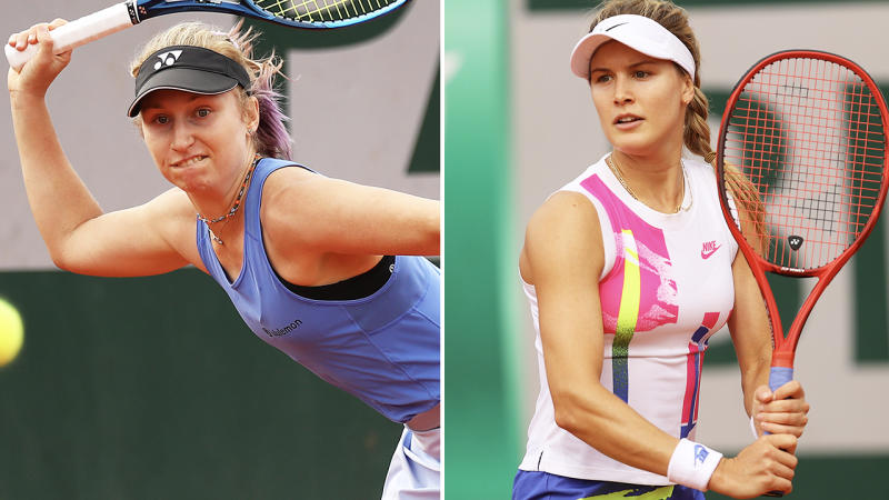 Eugenie Bouchard and Daria Gavrilova, pictured here in action at the French Open.