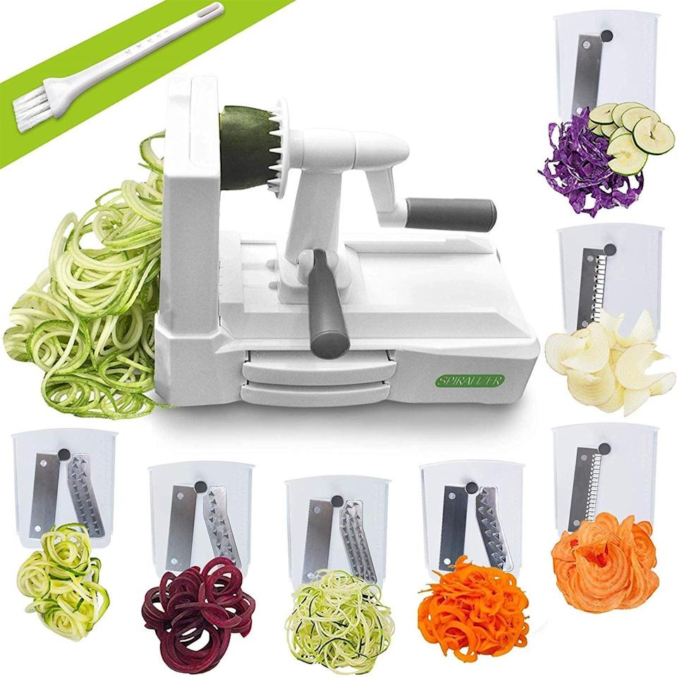 <p>If you've been thinking about investing in a spiralizer, try this <span>Spiralizer Ultimate 7 Strongest-and-Heaviest Duty Vegetable Slicer </span> ($30). It currently boasts over 10,00 rave reviews.</p>