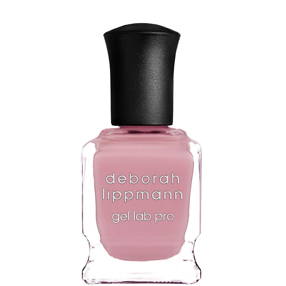 """<p><strong>Deborah Lippmann</strong></p><p>sephora.com</p><p><strong>$20.00</strong></p><p><a href=""""https://go.redirectingat.com?id=74968X1596630&url=https%3A%2F%2Fwww.sephora.com%2Fproduct%2Fgel-lab-pro-nail-polish-P404918&sref=https%3A%2F%2Fwww.harpersbazaar.com%2Fbeauty%2Fnails%2Fg33660165%2Fnail-colors-for-dark-skin%2F"""" rel=""""nofollow noopener"""" target=""""_blank"""" data-ylk=""""slk:Shop Now"""" class=""""link rapid-noclick-resp"""">Shop Now</a></p><p>This gel-like polish gives you a glossy finish and full coverage, without the hassle of real gel. We especially love this creamy pink as a nude for medium to deep skin. </p>"""