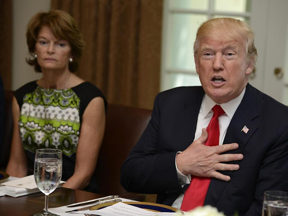 President Trump publicly criticised Senator Lisa Murkowski for failing to support his healthcare motion (Getty Images)