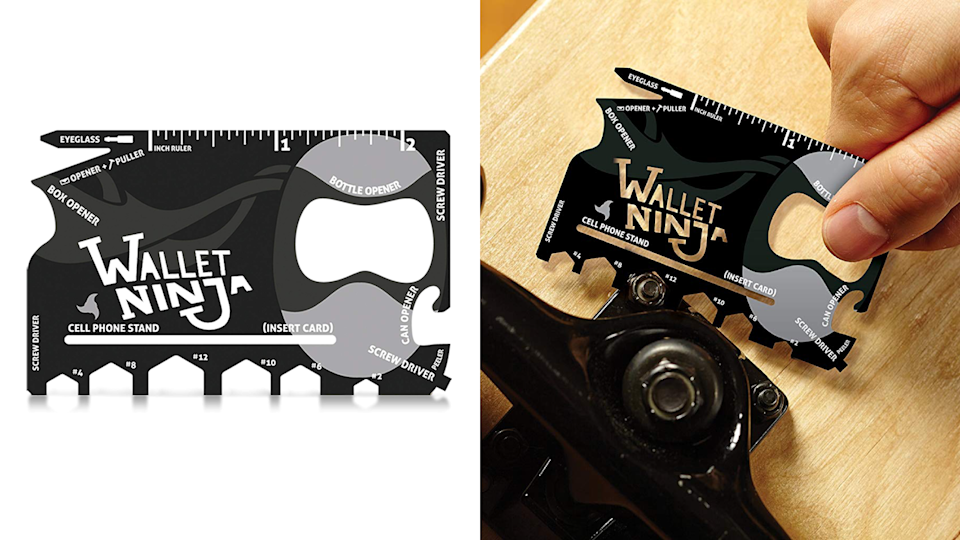 Best weird but practical gifts: Wallet Ninja 18-in-1 Credit Card Sized Multitool