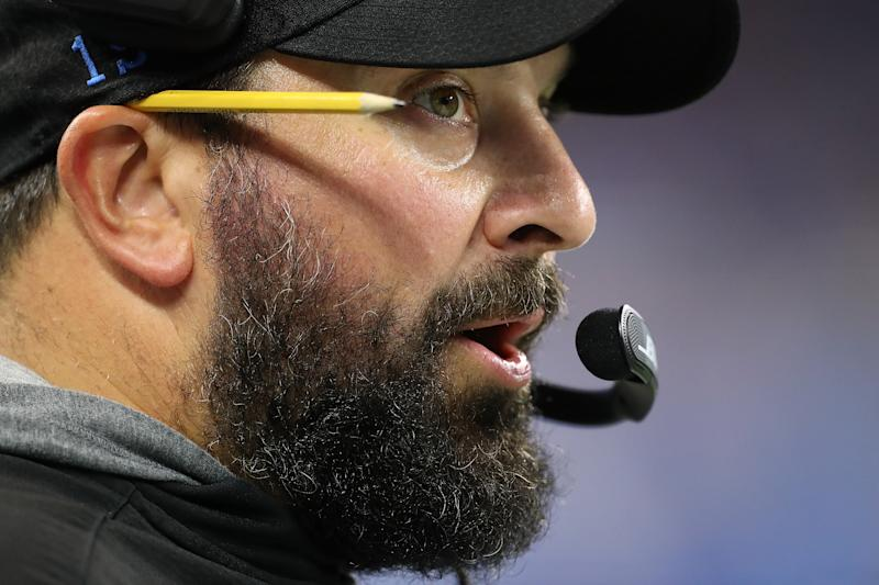 Detroit Lions coach Matt Patricia has his team off to a 2-1-1 start. (Getty Images)