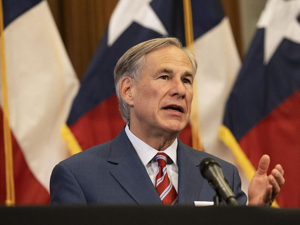 <p>Texas governor Greg Abbott said  the state is open 100%  </p> (Getty Images)