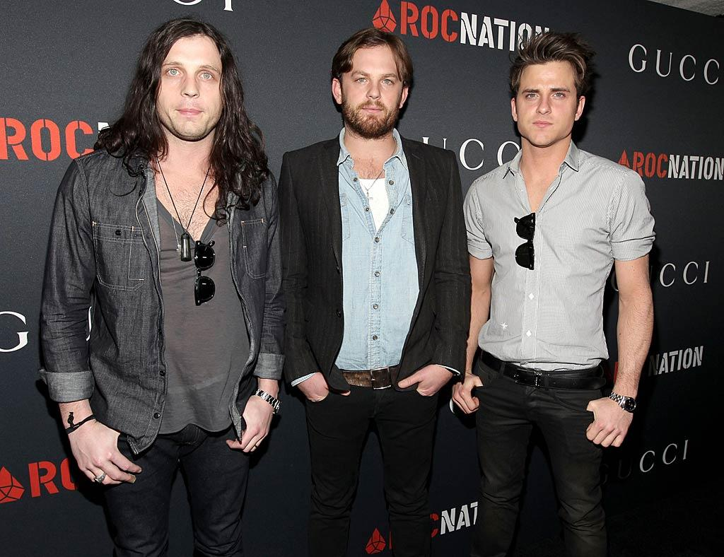 """The Kings of Leon (from left to right) Nathan, Caleb and Jared Followilll, who also happen to be brothers, obviously have very different tastes when it comes to their hairstyles! Christopher Polk/<a href=""""http://www.gettyimages.com/"""" target=""""new"""">GettyImages.com</a> - February 12, 2011"""