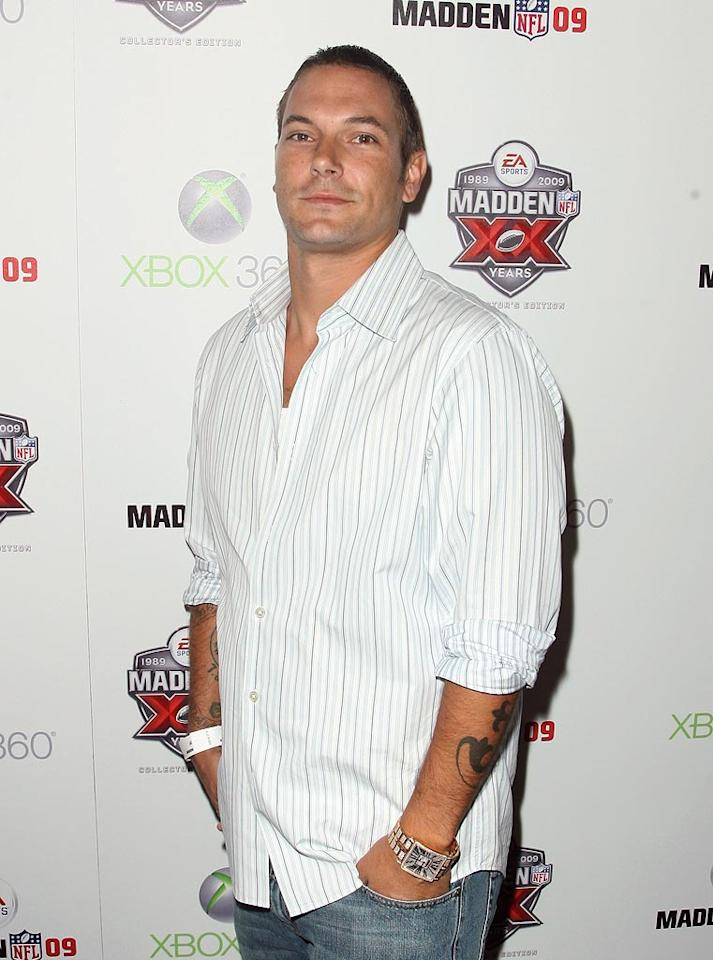"Kevin Federline poses for a picture upon arriving at the EA Sports premiere of ""Madden NFL 09"" at STK in West Hollywood, California. Jordan Strauss/<a href=""http://www.wireimage.com"" target=""new"">WireImage.com</a> - August 7, 2008"