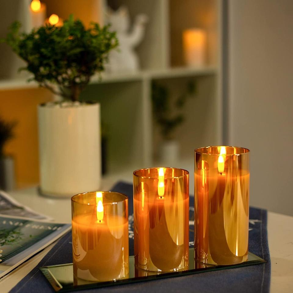 <p>These <span>Bemoment Golden Glass Flameless Battery-Operated Candles </span> ($12, originally $24) will add a stunning touch to your decor! </p>