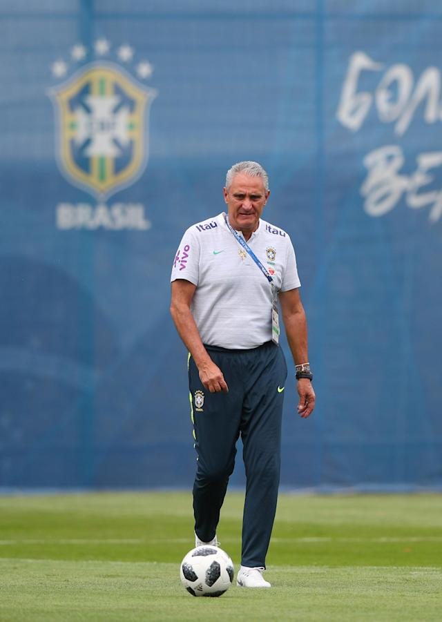 Soccer Football - World Cup - Brazil Training - Brazil Training Camp, Sochi, Russia - June 23, 2018 Brazil coach Tite during training REUTERS/Hannah Mckay