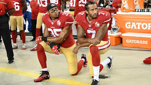 The NFL is considering giving teams the option to not come out for the anthem, but if they do and then kneel, a team may be penalized.