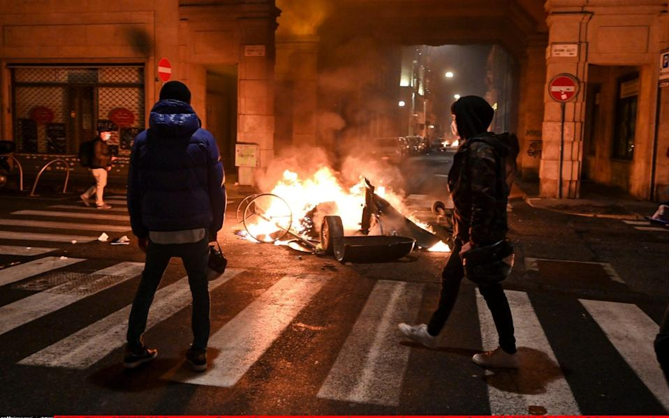 Some protesters went on the rampage in Turin - Getty