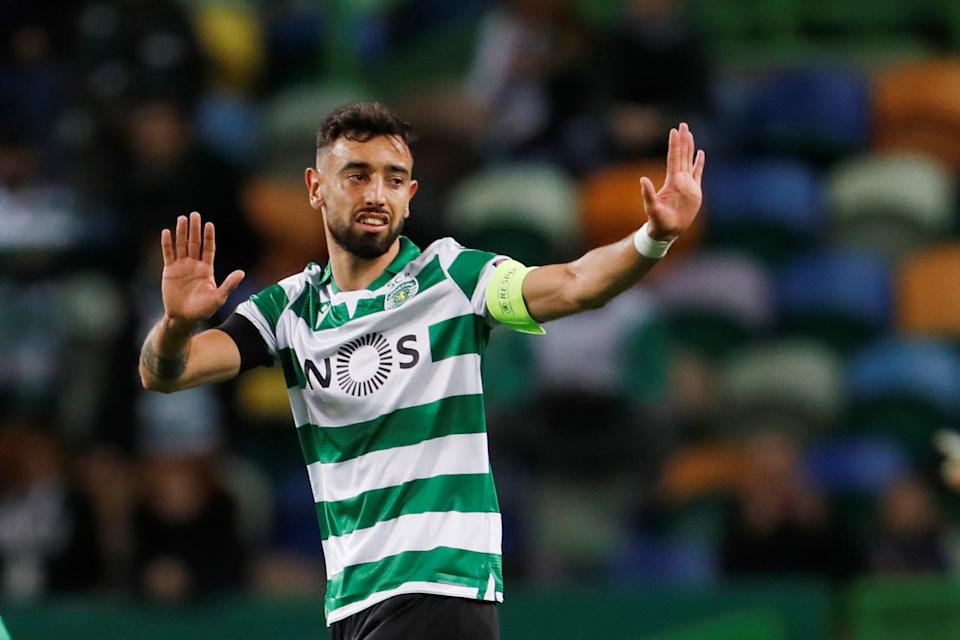 Sporting Lisbon's Bruno Fernandes has reportedly been signed by Manchester United. (REUTERS/Pedro Nunes)