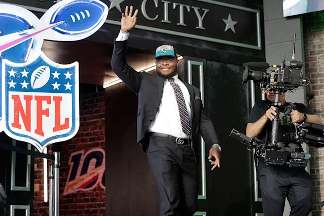 Florida's Jawaan Taylor was a great pick by the Jacksonville Jaguars in Round 2. (AP Photo)