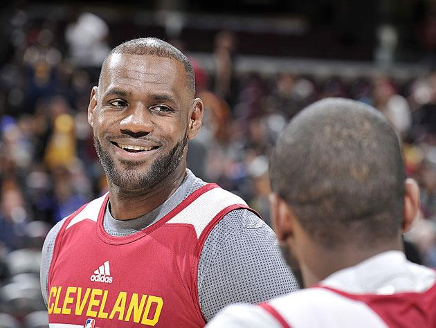 LeBron James and teammate. (Getty Images)