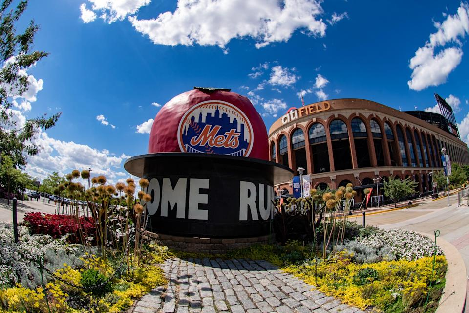 A view outside Citi Field, the Mets' home ballpark.