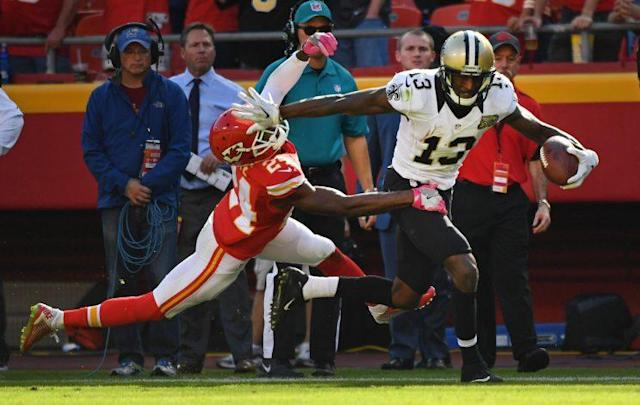 Michael Thomas is the new No. 1 wide receiver in pass-happy New Orleans. (Getty)