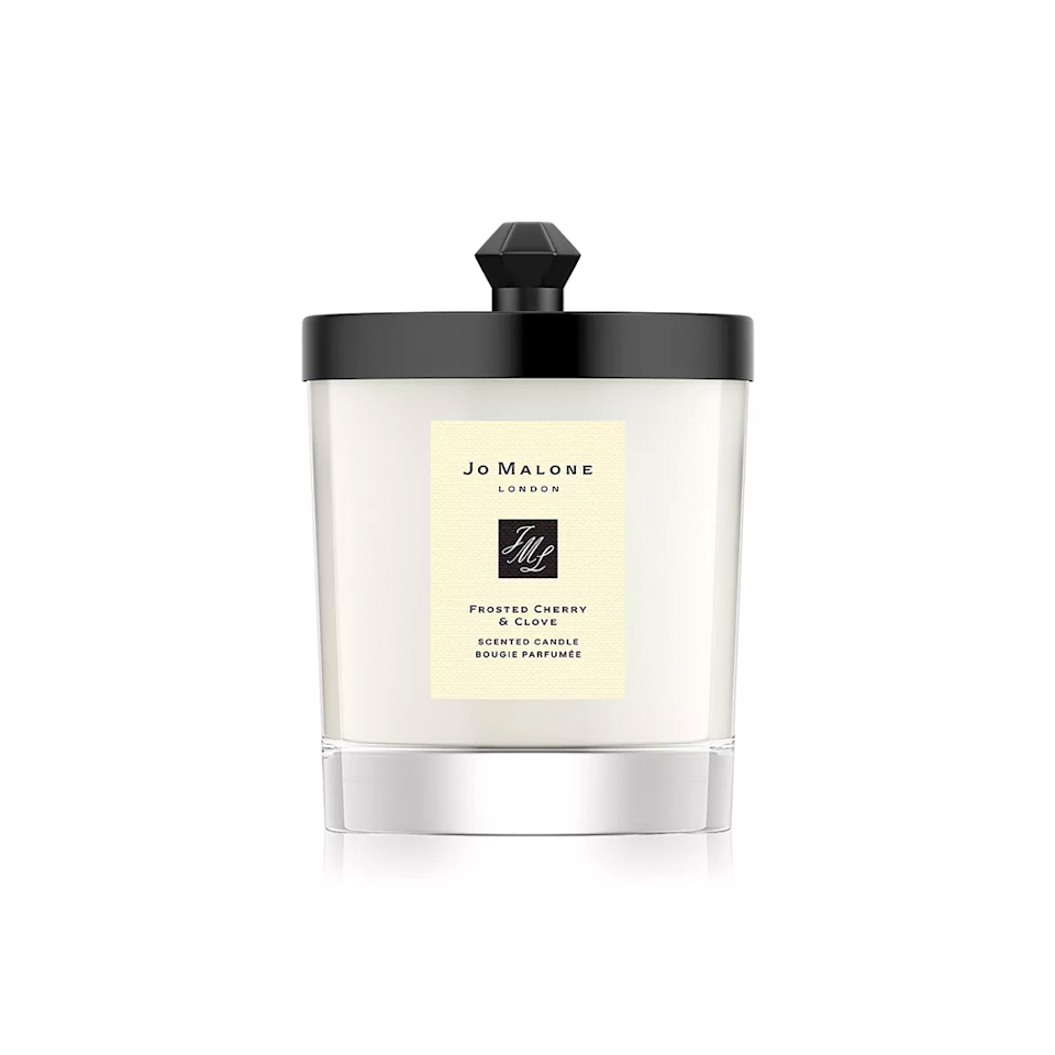 """$72, Bloomingdale's. <a href=""""https://www.bloomingdales.com/shop/product/jo-malone-london-frosted-cherry-clove-home-candle-7-oz.-100-exclusive?ID=3818186&CategoryID=1001542"""" rel=""""nofollow noopener"""" target=""""_blank"""" data-ylk=""""slk:Get it now!"""" class=""""link rapid-noclick-resp"""">Get it now!</a>"""