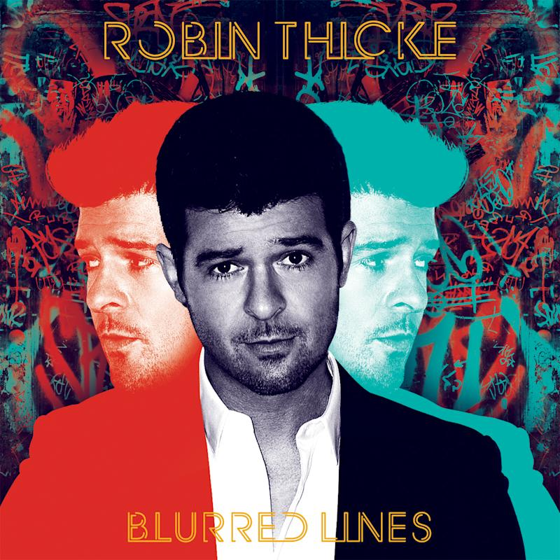 """This CD cover image released by Interscope Records shows """"Blurred Lines,"""" by Robin Thicke. (AP Photo/Interscope Records)"""
