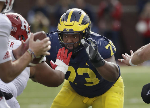 The Oakland Raiders drafted Michigan DT Maurice Hurst in the fifth round; Hurst fell in the draft after an EKG at the scouting combine revealed an unspecified heart issue. (AP)