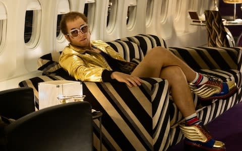 Taron Egerton as Elton John in a scene from Rocketman, that will be screened out of competition at Cannes - Credit: David Appleby/David Appleby
