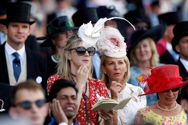 Horse Racing - Royal Ascot - Ascot Racecourse, Ascot, Britain - June 21, 2018 Racegoers looks on during the 3.05 Hampton Court Stakes Action Images via Reuters/Paul Childs