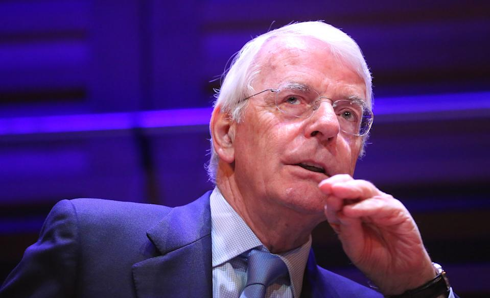 Sir John Major in conversation with Ian Birrell (not pictured) on the first day of The Politics Festival at Kings Place, London, a weekend of pro-politics talks, debates, discussions and politics-related entertainment. Picture dated: Friday June 22, 2018