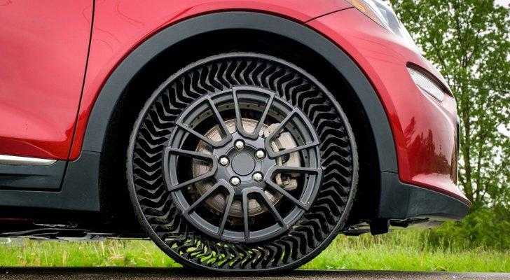 GM, Michelin to Bring Airless Tires to Cars by 2024