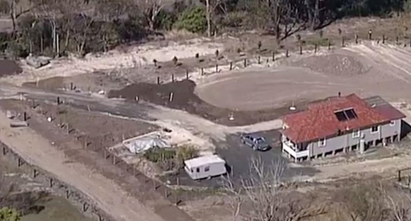 Mum Soraya Van Tilborg has been left distraught after finding out her kids have been playing in dumped asbestos on the family's 22-hectare property in Kulnura on the NSW Central Coast. Source: 7 News