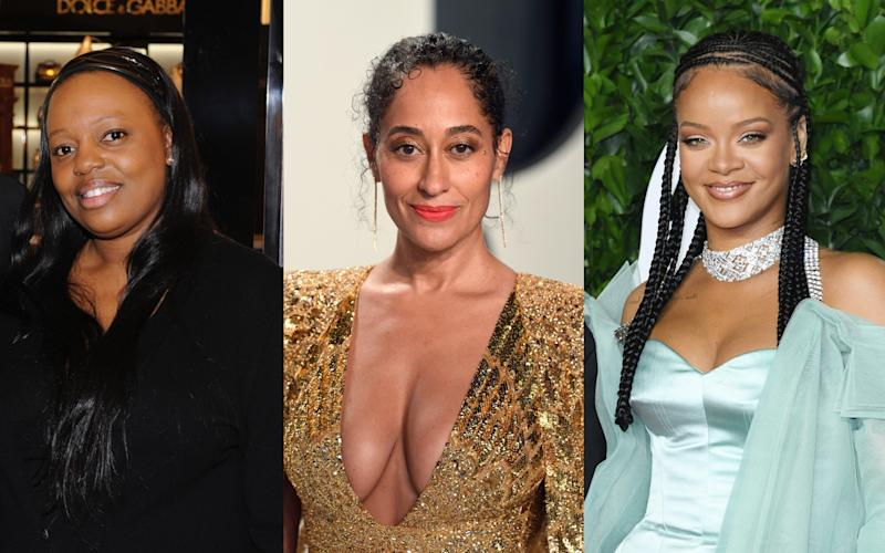 L-R: Pat McGrath, Tracee Ellis Ross and Rihanna - getty