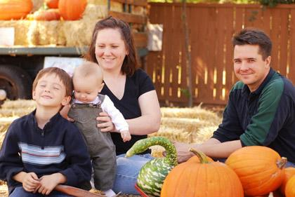 "<div class=""caption-credit""> Photo by: Shutterstock</div><div class=""caption-title"">Visit a pumpkin patch!</div>Aside from being the perfect backdrop for fall family photos, pumpkin patches are a great way to get everyone excited about fall fun!"