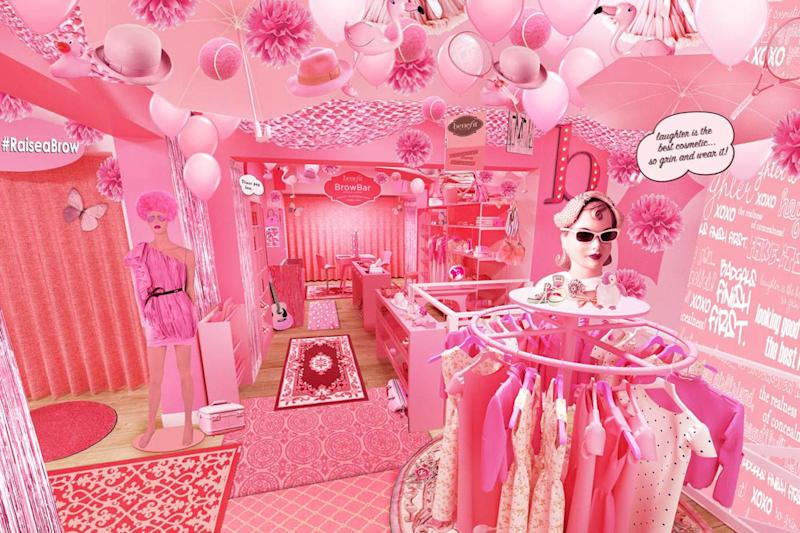 Pretty in pink: Benefit's Covent Garden charity pop-up shop