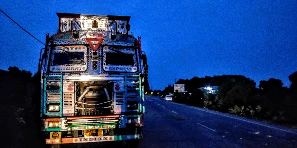 The truck that collided with Mahendra's car. Two aunts lost their lives on the spot, while the Unnao rape survivor and lawyer battled for their lives for months.
