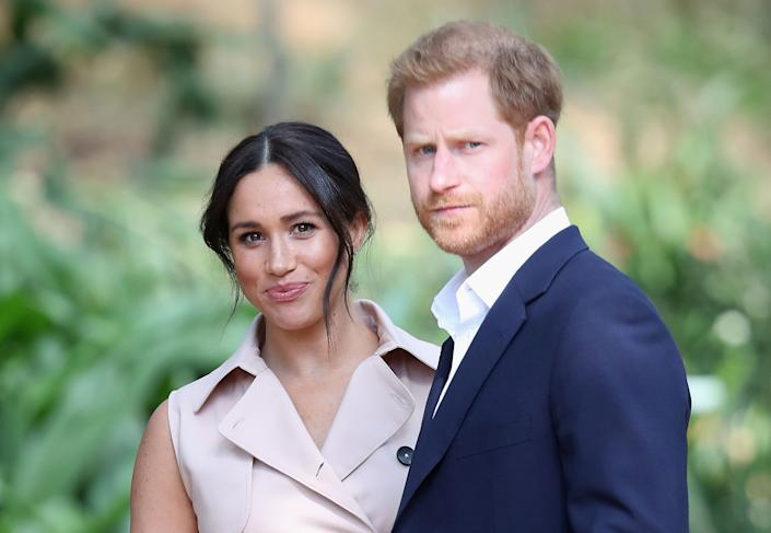 Prince Harry, Duke of Sussex, and Meghan, Duchess of Sussex, attend an event in Johannesburg, South Africa, in October. (Photo: Chris Jackson via Getty Images)
