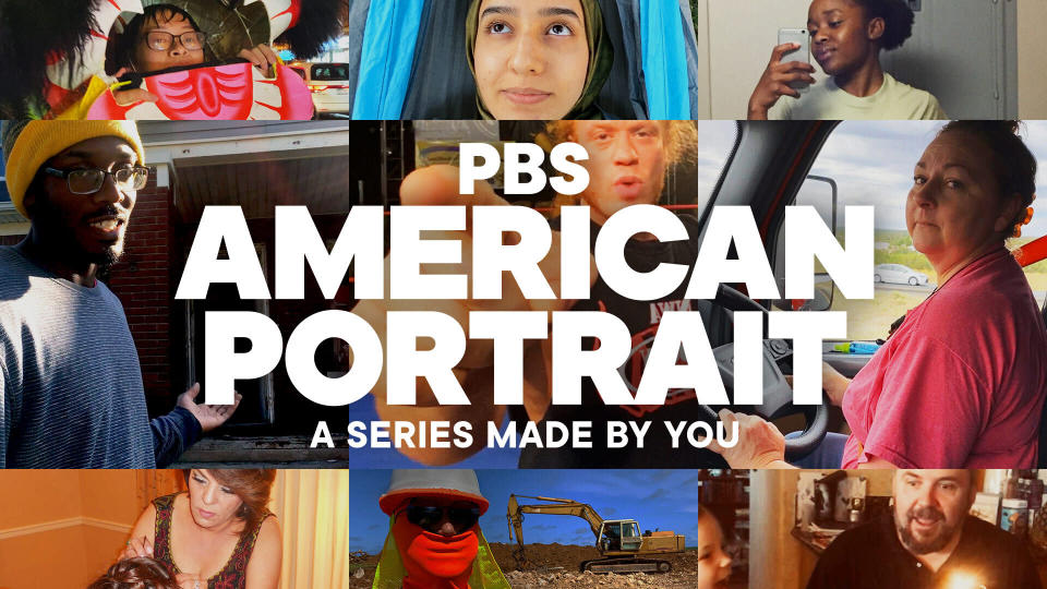 """This image released by PBS shows art for the our-part docuseries """"PBS American Portrait,"""" debuting Tuesday. (PBS via AP)"""