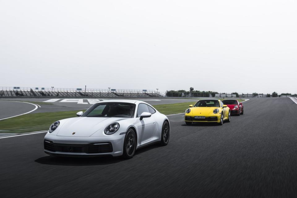 The new 911 is wider and flatter.