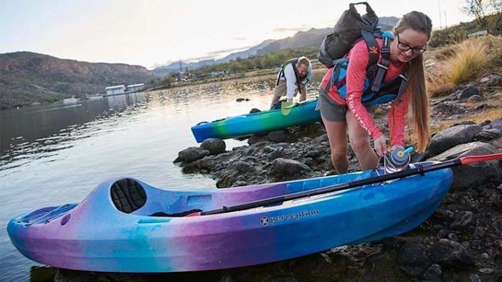 Aside from sports gear, you can find kayaks and other outdoor items.