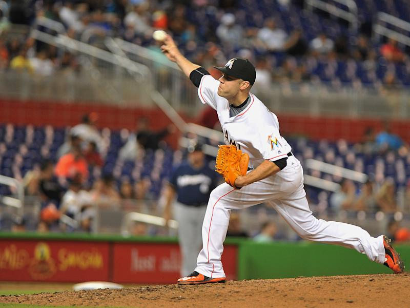 <p>Miami Marlins pitcher Jose Fernandez throws during the sixth inning of a baseball game against the Milwaukee Brewers, Monday, May 9, 2016, in Miami. Fernandez struck out 11 players. Marlins won 4-1. (AP Photo/Gaston De Cardenas) </p>
