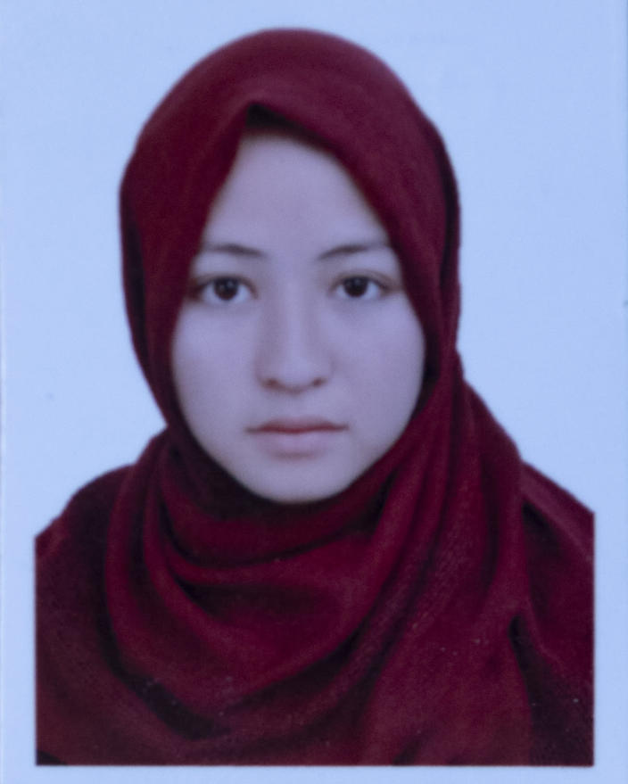 This undated photo released by the family shows Ameena Razawi who was among nearly 100 people killed in bombing attacks outside her school on May 8, 2021. Naseem Raswai said his 17- year old daughter Ameena Raswai always had a smile on her face. She dreamt of becoming a surgeon. (AP Photo)